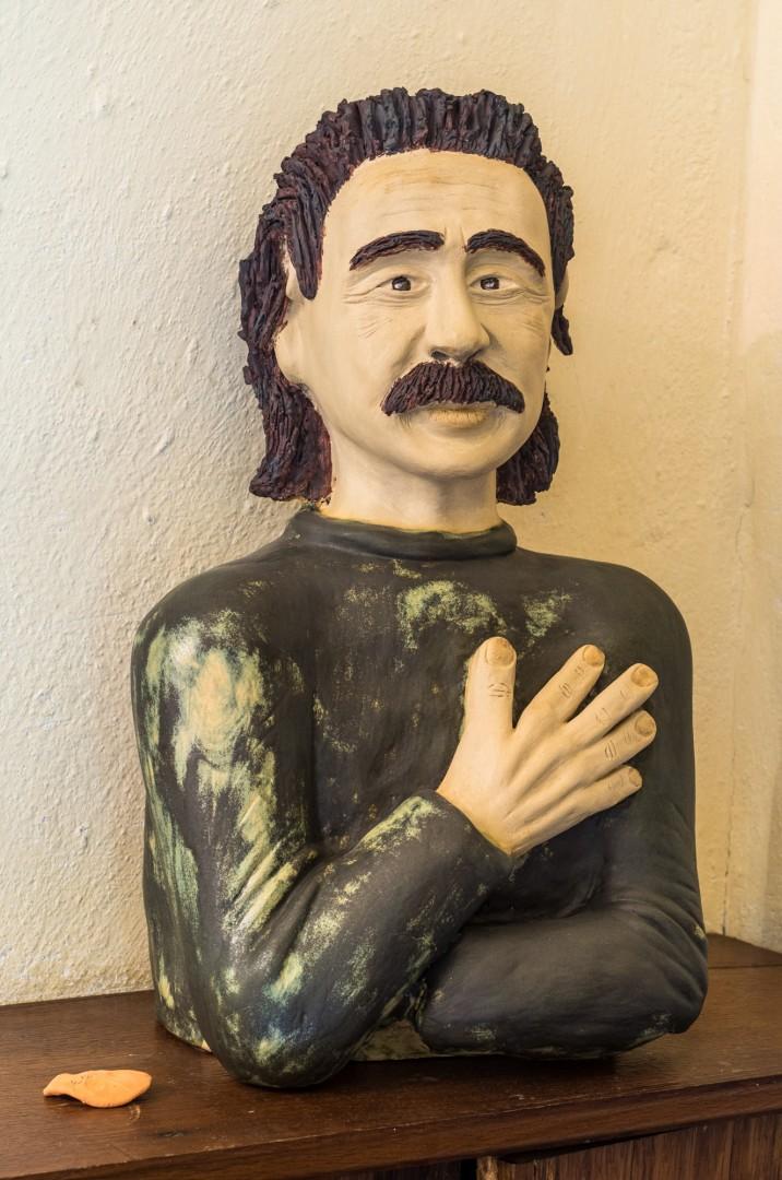 Keramikbüste, Höhe ca. 45 cm