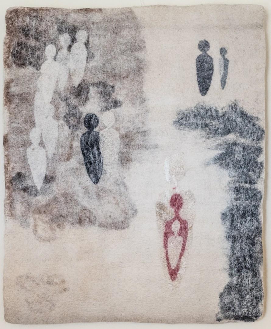 Ich bin Viele II. (Mechtildis Köder), 2007, (80 x 60 cm), Schafwolle, handgefilzt