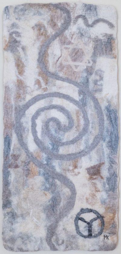 Die Luft. (Mechtildis Köder), 2014, ca. 50 x 100 cm, Schafwolle, handgefilzt