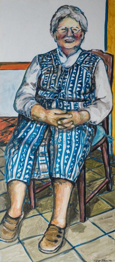 Gerda Thomann (Anne Grunge-Dirkers), Acryl auf Kapa, 65 x 140 cm