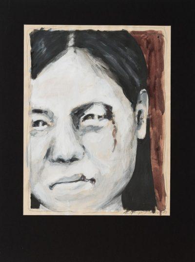 Notwehr (Anne Grunge-Dirkers), 32 x 42 cm, Tempera auf Karton