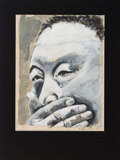 mundtot (Anne Grunge-Dirkers), 32 x 42 cm, Tempera auf Karton