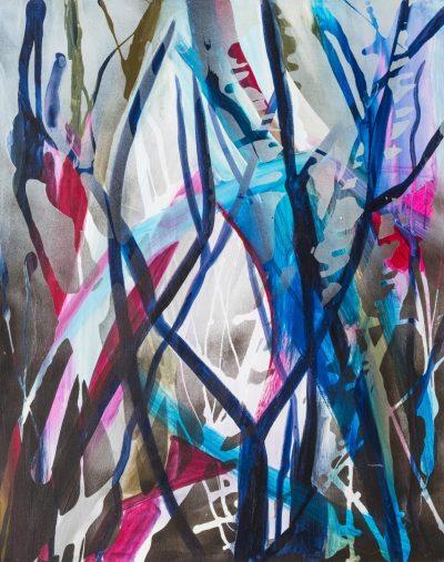 Salix (Anne Grunge-Dirkers), Mischtechnik auf Leinwand, 80 x 100 cm