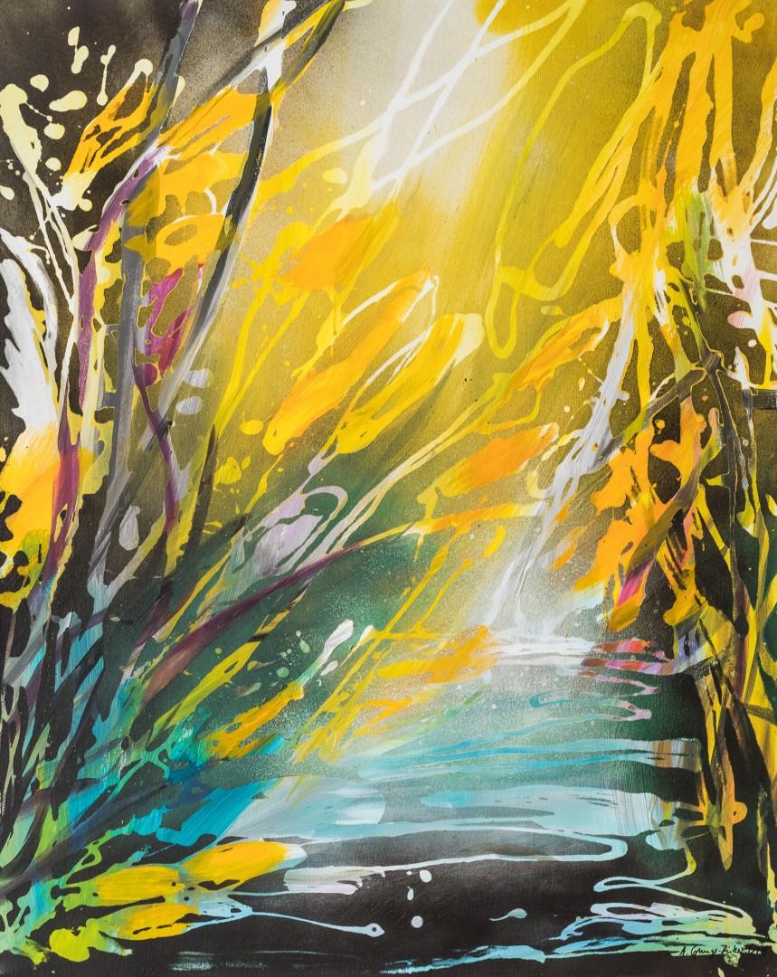 Molina (Anne Grunge-Dirkers), Mischtechnik auf Leinwand, 80 x 100 cm