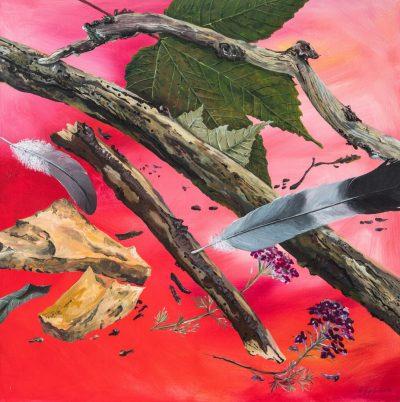 gesammelt ist noch nicht geordnet (Anne Grunge-Dirkers), 80x80 cm, Acryl auf Leinwand