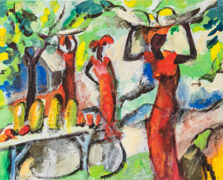 Akwaaba (Anne Grunge-Dirkers), Acryl auf Leinwand, 100 x 78 cm