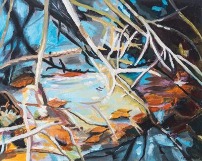 Zweige (Anne Grunge-Dirkers), Acryl auf Leinwand, 100 x 80 cm