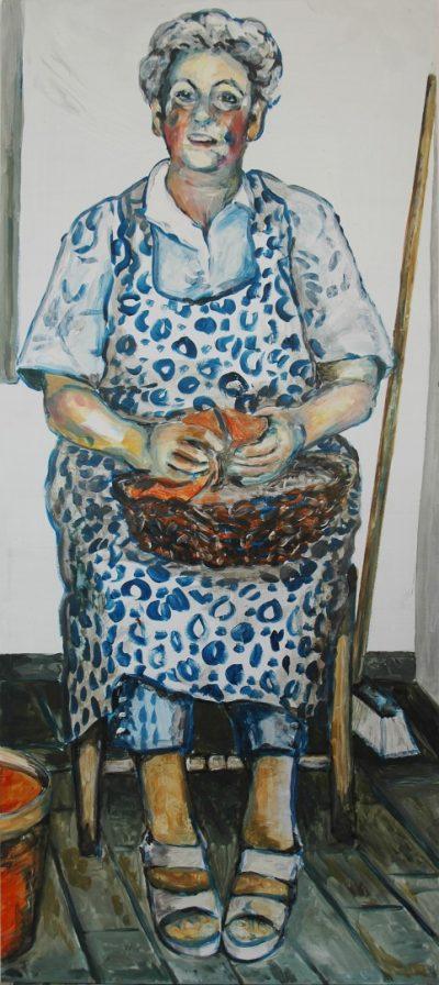 Leni Nüsse (Anne Grunge-Dirkers), Acryl auf Kapa, 65 x 140 cm
